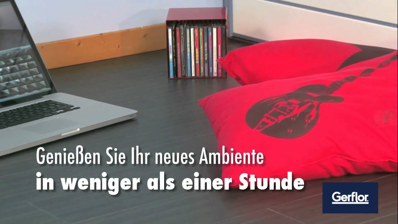 boden renovieren leicht gemacht mit senso von gerflor youtube. Black Bedroom Furniture Sets. Home Design Ideas