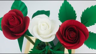 DIY - Rose Flower From Paper  | How To Make Paper Rose Easy | Paper Flower |  Rose Flower Making