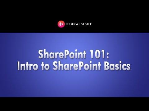Pluralsight Webinar: Sharepoint 101: Introduction To SharePoint Basics