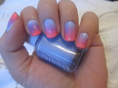 Nail Tutorial Quick Easy Ombre Nails Youtube