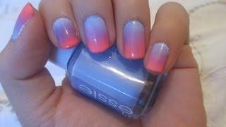 видео ombre effect nails