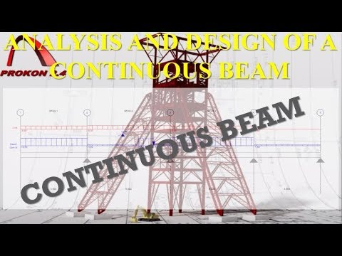 Analysis of a Continuous Beam with Prokon