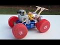 Cómo Hacer Un Coche - Coche Loco Con Doble Motor - Muy Rápido Y Sencillo De Construir