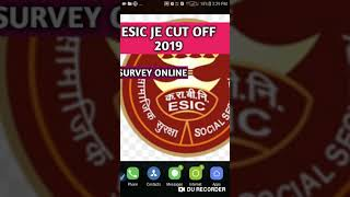 ESIC JE CUTOFF 2019