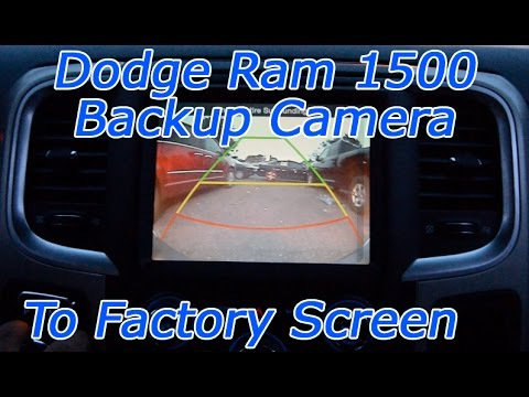 hqdefault dodge ram 1500 backup camera through factory screen aftermarket  at nearapp.co