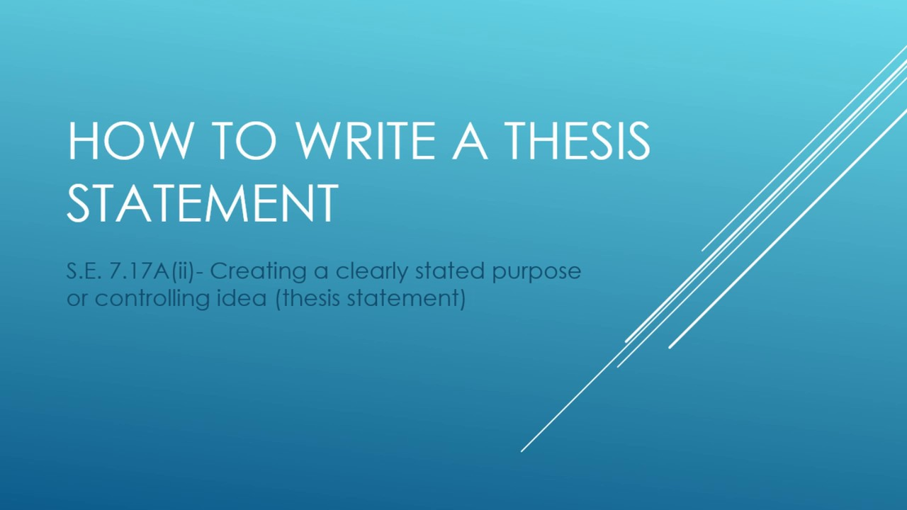 Create a thesis
