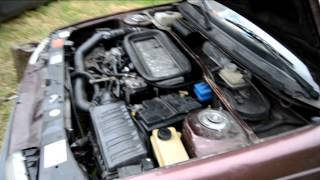Peugeot 405 1,9 TD - Cold start and smoke