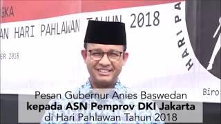 Download Video Pesan Gubernur Anies Baswedan di Hari Pahlawan kepada ASN Pemprov DKI Jakarta MP3 3GP MP4