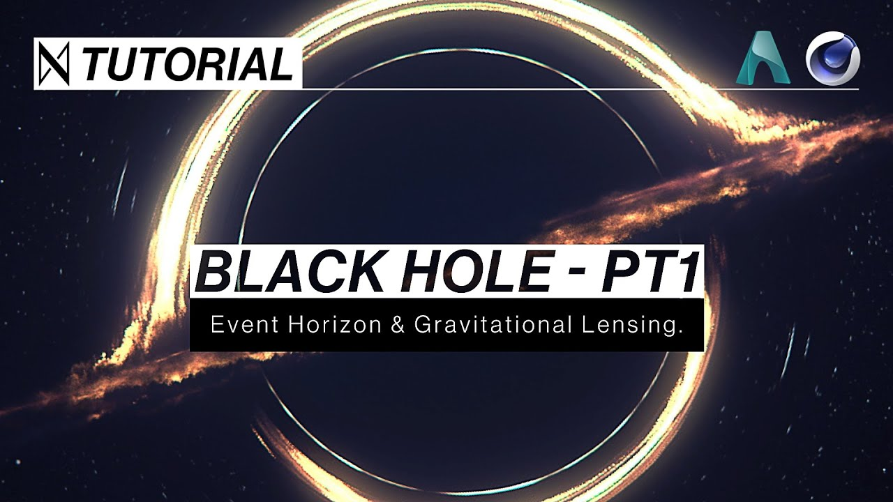 ᛞ C4D & Arnold TUTORIAL | Make a Black Hole - Part 1 (Gravitational Lensing & Event Horizon)