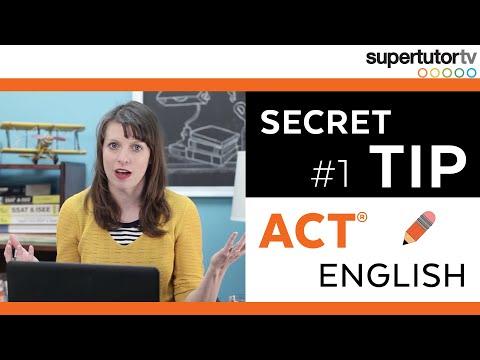 ACT ENGLISH: #1 SECRET TIP