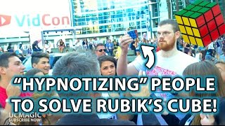 Hypnotizing People to Solve Rubik's Cube? Magic, Prank & Trolling ft Viners!
