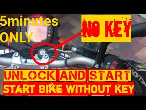 HOW TO UNLOCK AND START BIKE WITHOUT KEY|ANY BIKE - YouTube