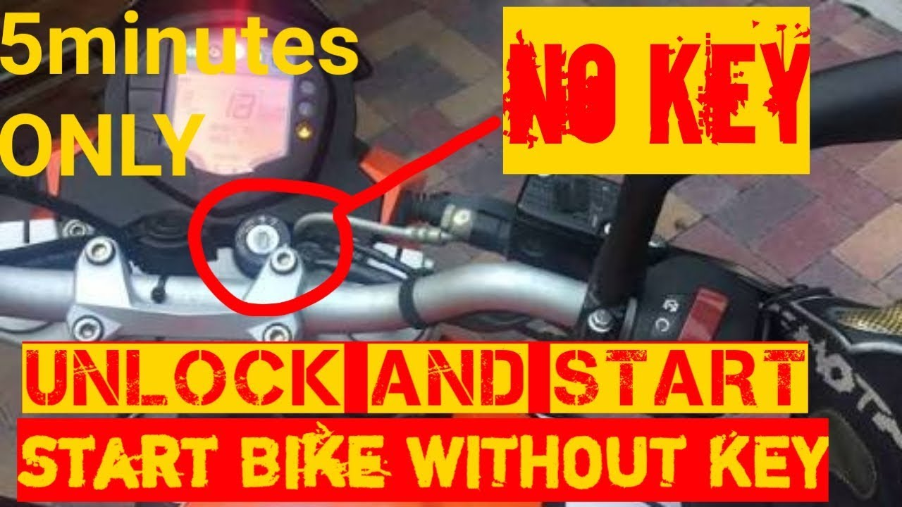 HOW TO UNLOCK AND START BIKE WITHOUT KEY|ANY BIKE