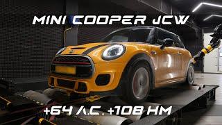 Чип-тюнинг Mini Cooper S JCW с замерами на мощностном стенде.