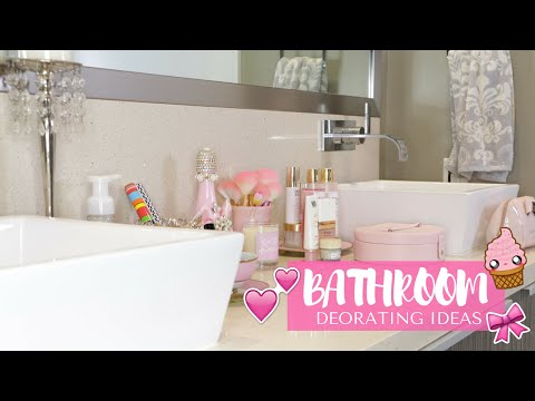 Bathroom Makeover🏠💕- Girly Decorating Ideas!🎀🎊 -SLMissGlam👑💕