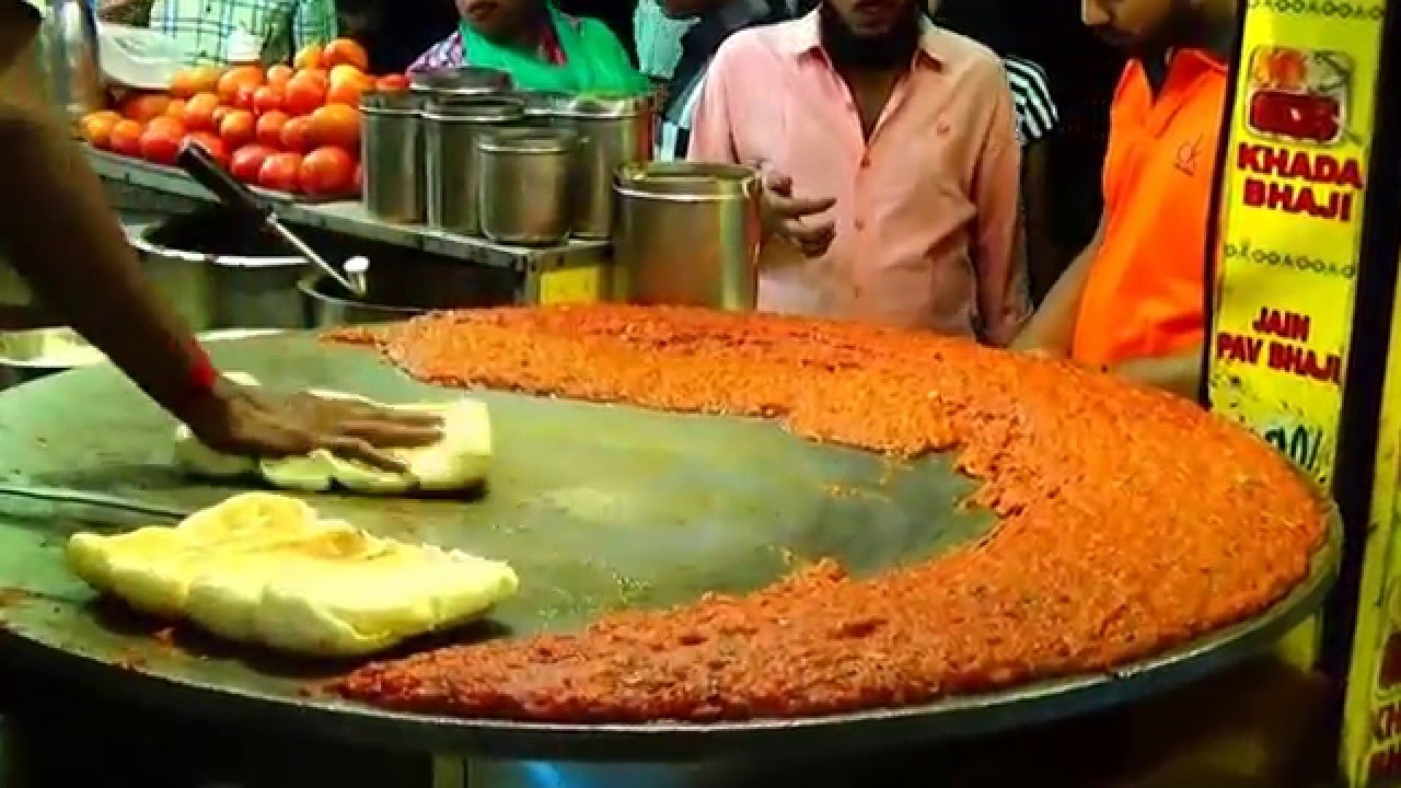 Pav bhaji a mega video on the best street food of mumbai for Abhiruchi south north indian cuisine