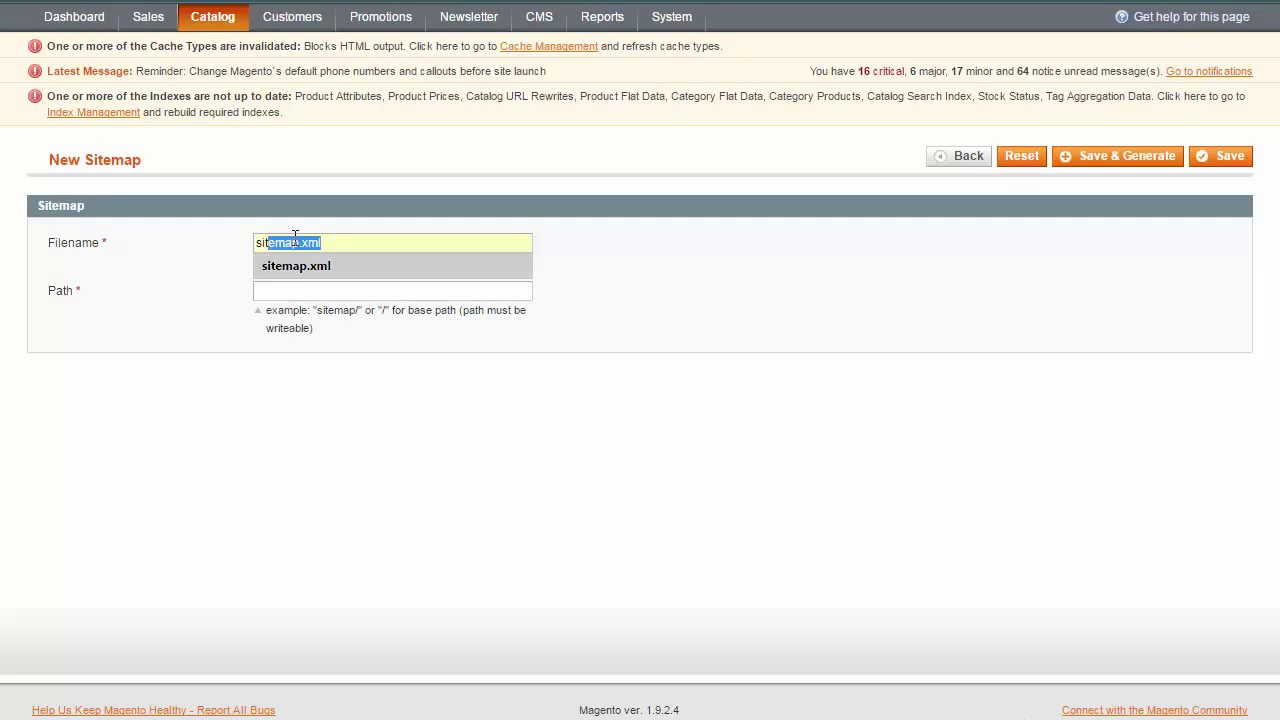 generate sitemap générer plan du site magento 1 9 youtube