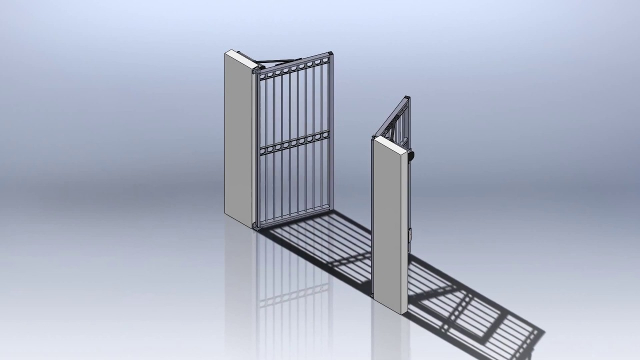 portail battant de 2 vantail avec un portillon int gr. Black Bedroom Furniture Sets. Home Design Ideas