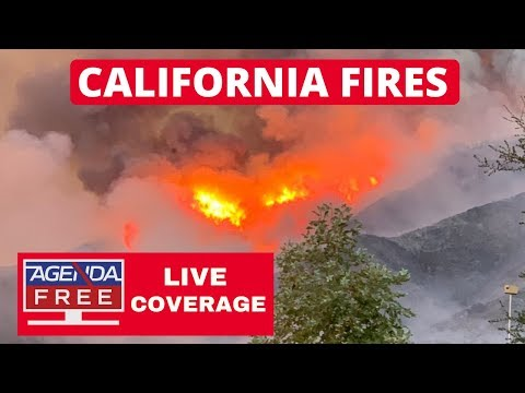 Live California Fires Coverage Creek Fire Bobcat Fire Valley Fire El Dorado Fire Oak Fire Youtube