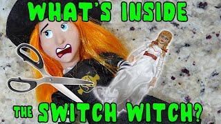 What's Inside The Swİtch Witch! She Ate Annabelle! Cutting Open Halloween Elf On The Shelf