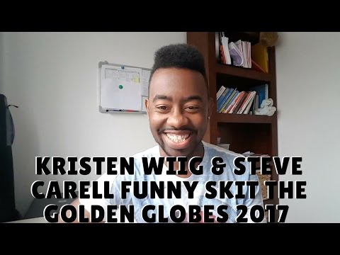 Kristen Wiig And Steve Carell Funny Skit The Golden Globes 2017 #Reaction