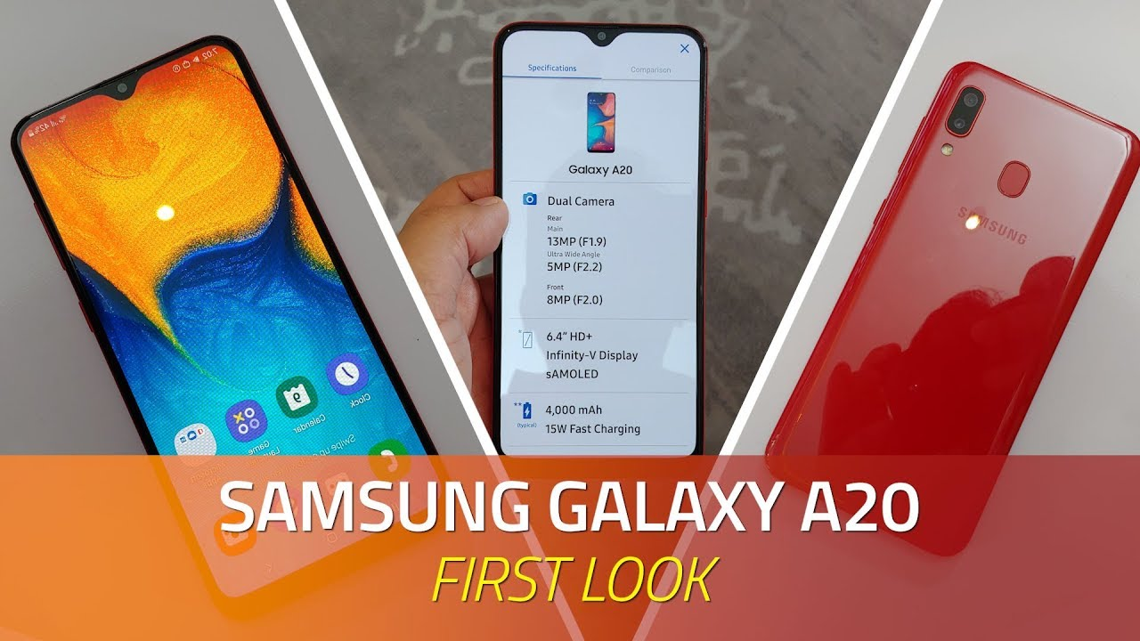 Samsung Galaxy A20 First Look | Specs, Camera, Price, and More