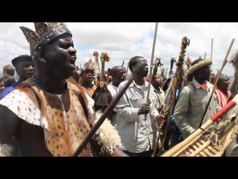 Traditional Zulu warrior dance at Mandela's funeral