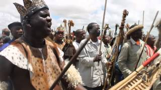 Traditional Zulu warrior dance at Mandela's funeral