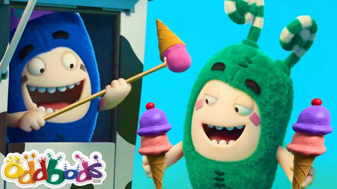 Funny Cartoon Videos for Kids   Zee Wins Ice Cream Games   Oddbods & Friends