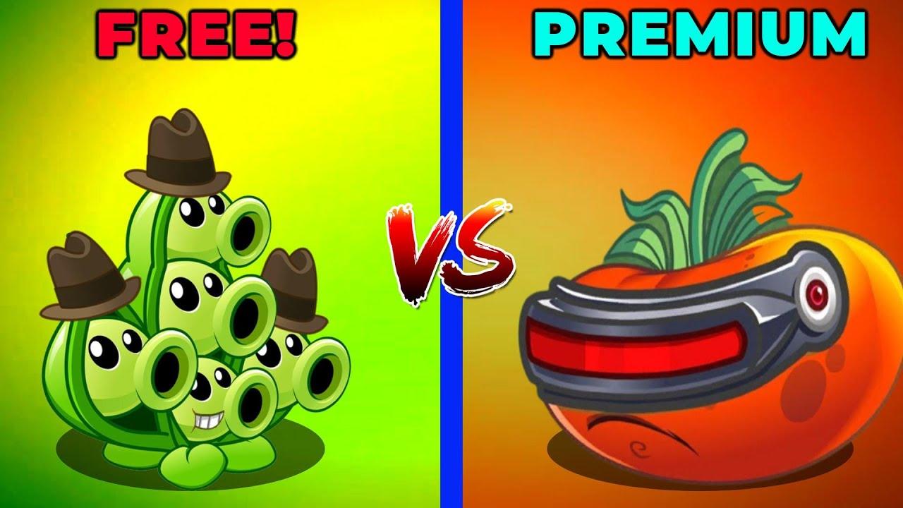 PVZ 2 | Max Level PEA POD vs ULTOMATO! Free vs Premium Plant - Who Will Win?