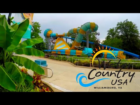 Water Country USA (Williamsburg, Virginia) 4K