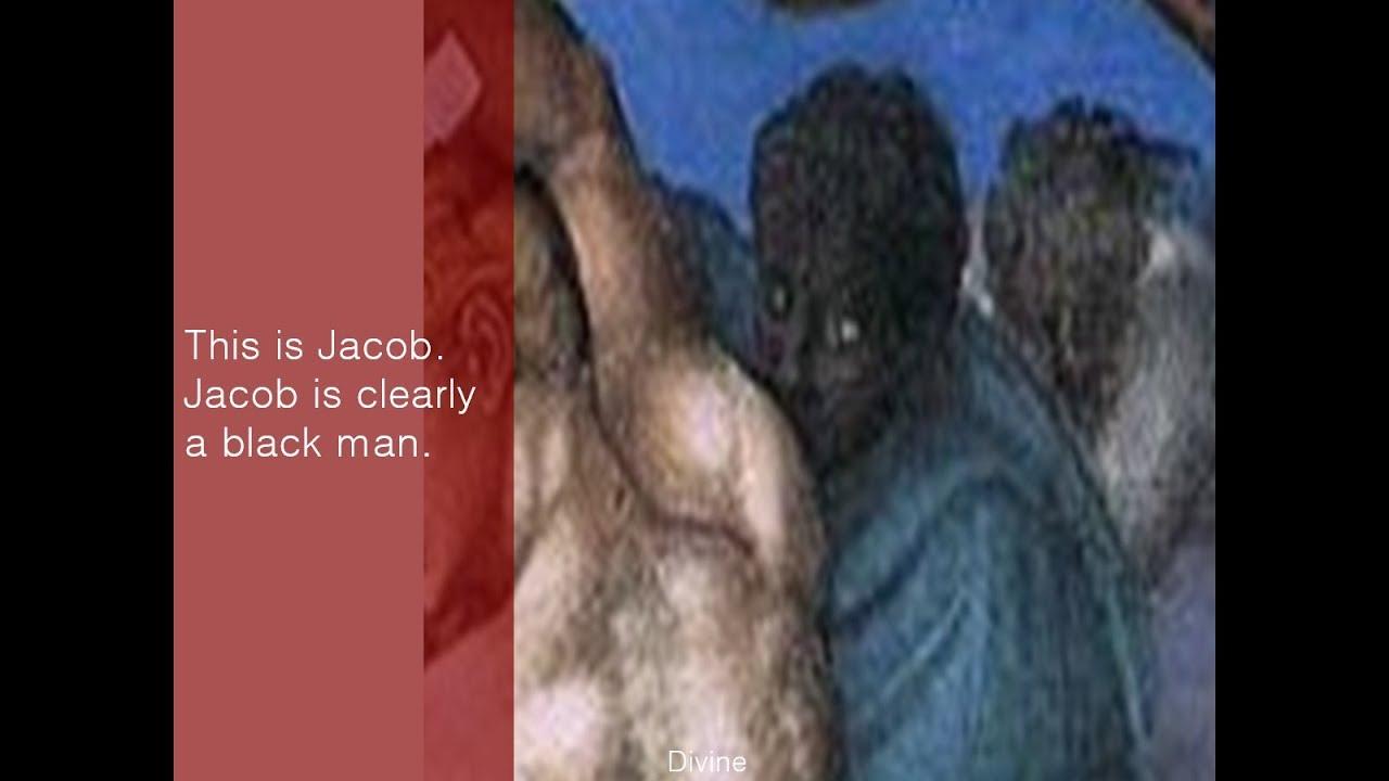 Black Jacob and lion of Judah hidden in Sistine Chapel painting