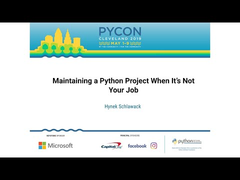 Maintaining a Python Project When It's Not Your Job