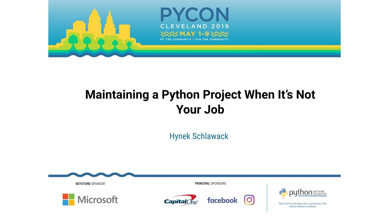 Maintaining a Python Project When It's Not Your Job · Homepage of