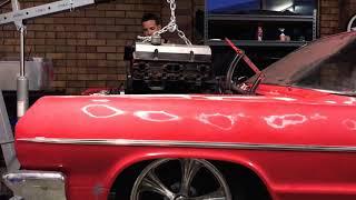 Bagged 64 impala engine removal