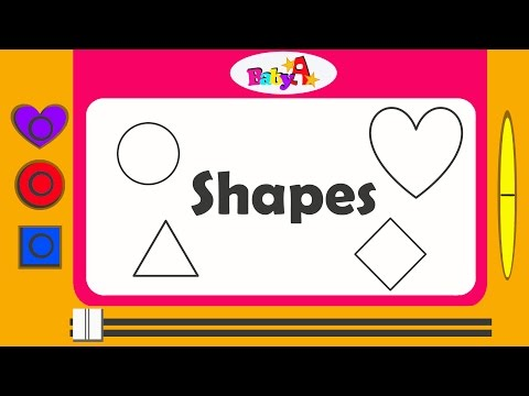Shapes | Spelling Of Shapes | Nursery Learning Of Shapes By BabyA Nursery Channel