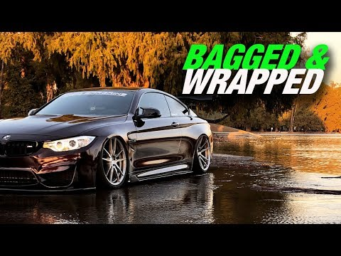 BAGGED BMW M4 GET'S SLEEK VINYL WRAP *gloss black rose*