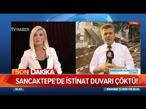 Sancaktepe'de istinat duvarı çöktü! - Atv Haber 27 Temmuz 2018
