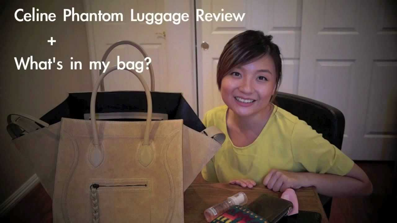 What\u0026#39;s in my bag/ Celine Phantom Luggage Review - YouTube