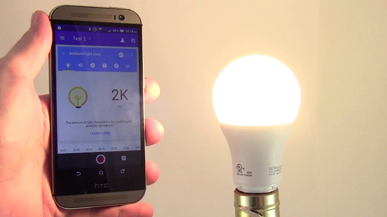 How to Measure Light with Google's Science Journal App