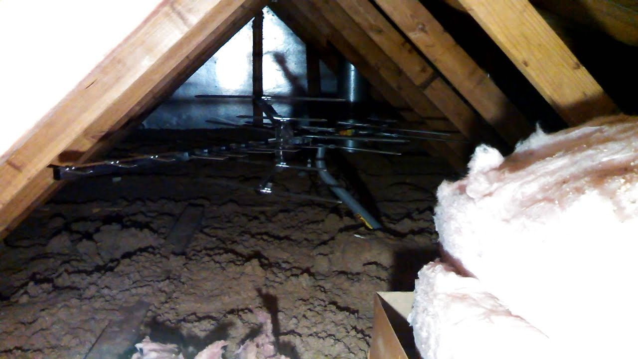 Winegard Hd7694p Antenna Installed In The Attic Youtube