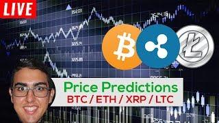 Price Predictions: Bitcoin ($BTC), Ripple ($XRP), Ethereum ($ETH), Litecoin ($LTC), & Tron ($TRX)!