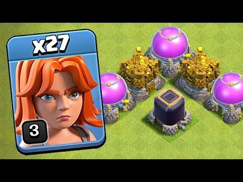 MASS VALKYRIE TH9 FARMING!  Clash Of Clans