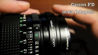 Canon FD Lens to Micro Four Thirds Adapter For Micro 4/3 Mirrorless Interchangeable Lens Cameras