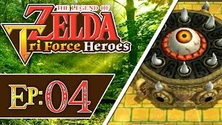 Tri Force Heroes - Part 4 | Woodlands - Forest Temple! [3-Player 100% Walkthrough]