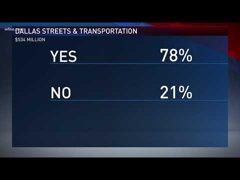 $534 million: Dallas streets and transportation