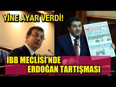 İBB Meclisinde İmamoğlu'ndan Tevfik Göksu'ya ayar! Erdoğan tartışması çı