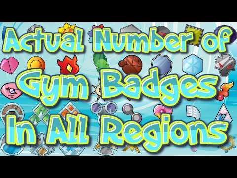 Actual Number of Pokemon Gym Badges In All Known Regions