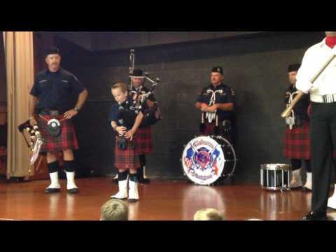 Gerard Elementary School student Luke Stewart performs solo