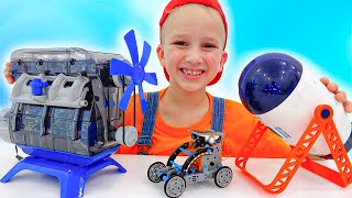 Niki wants to find planets and builds toy robots